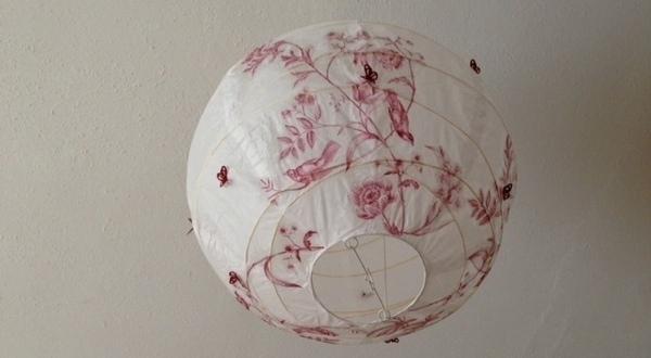 Kinderzimmerlampe schnell und einfach selbst gemacht geborgen wachsen - Papierlampe kinderzimmer ...