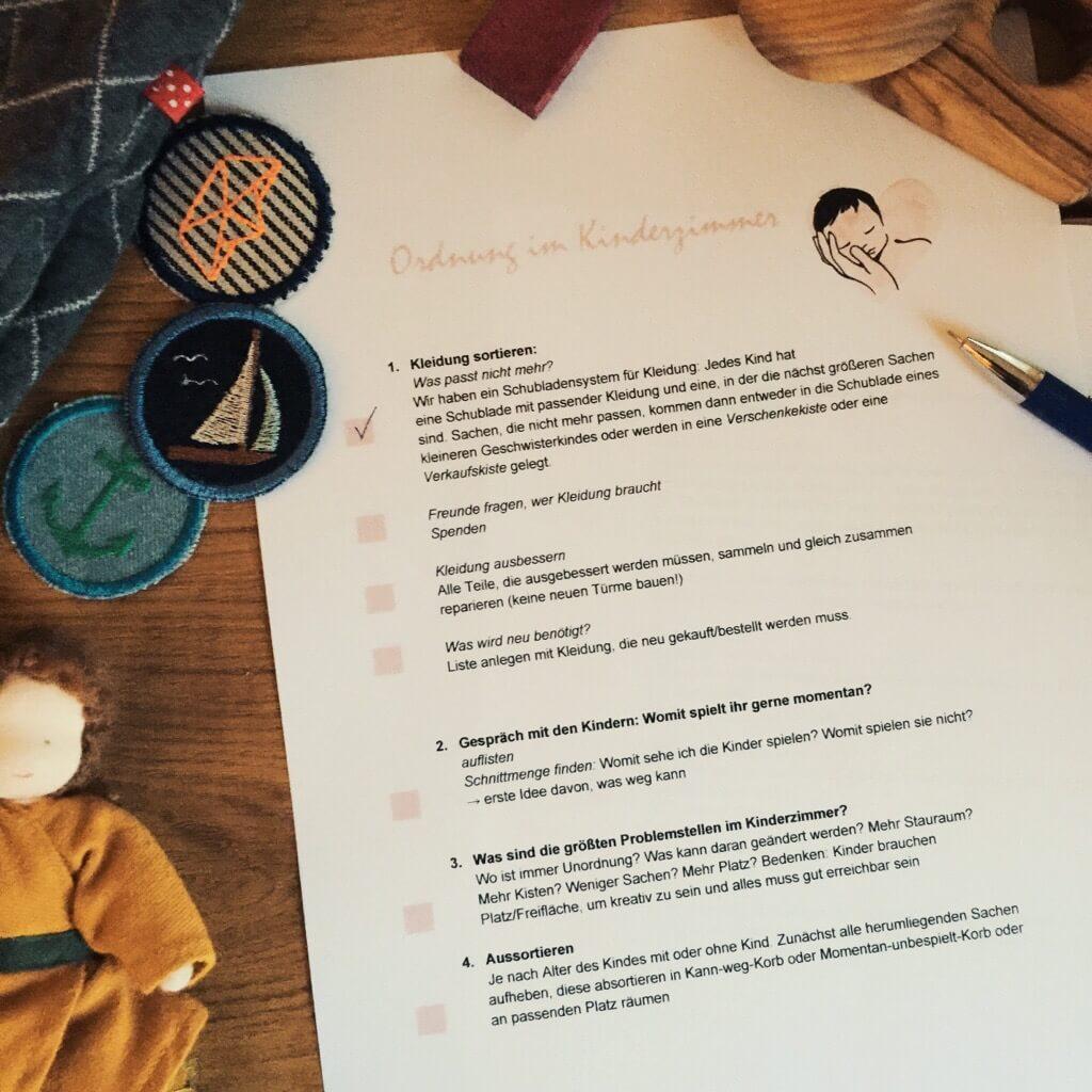 Mehr Ordnung zu Hause und im Kinderzimmer - Checkliste zum ...